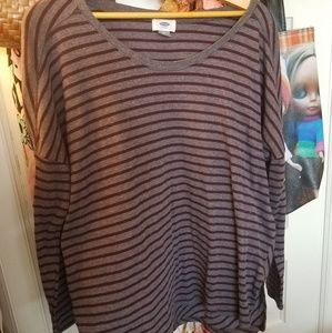 Old Navy Plus 1X oversized ribbed tee